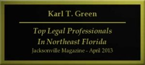 KARL GREEN - 2013 Top Legal Professionals in Northwest Florida